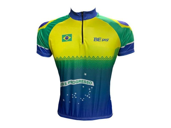 Camisa Ciclismo Mountain Bike Brasil