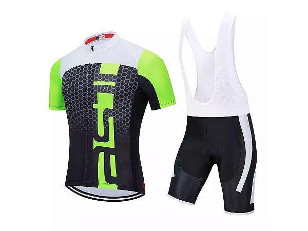 Conjunto Ciclismo Castelli Bretelle e Camisa Forro em Gel