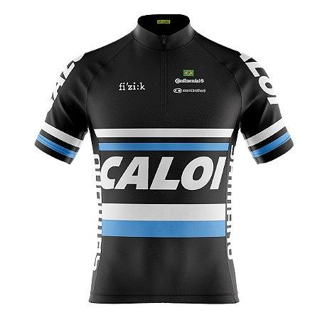 Camisa Ciclismo Mountain Bike Caloi Preta