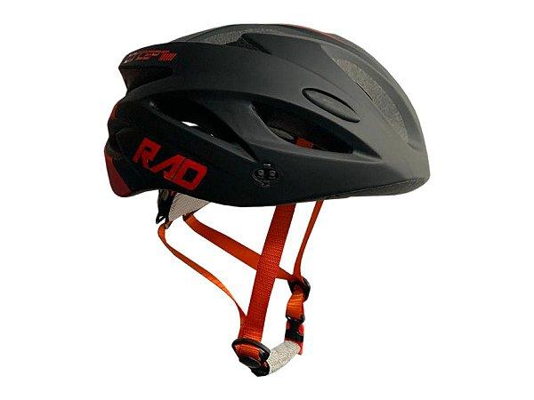 Capacete Bicicleta Bike Ciclista RAD Preto/Vermelho