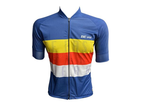 Camisa Ciclismo Mountain Bike Be Fast Listrado Zíper Total