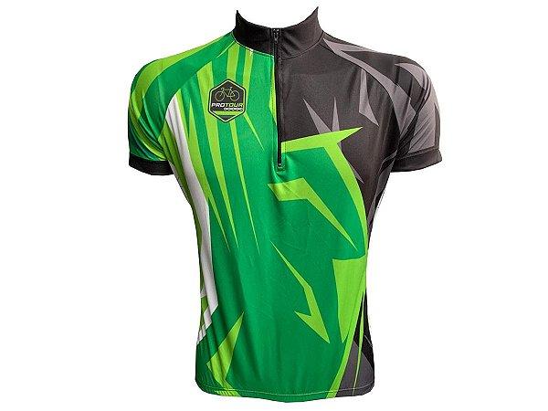 Camisa Ciclismo Mountain Bike Pro tour Green Power