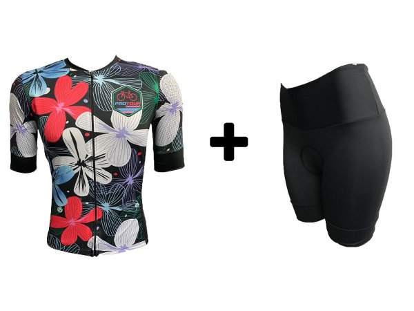 Kit Camisa e Bermuda Feminino Degrade