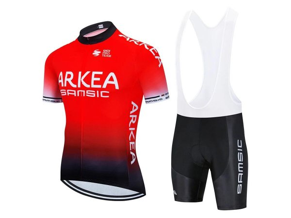 Conjunto Ciclismo Bretelle e Camisa Arkéa Samsic Forro em Gel
