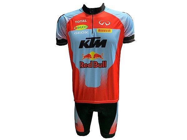 Conjunto Ciclismo MTB Red Bull + KTM manga curta