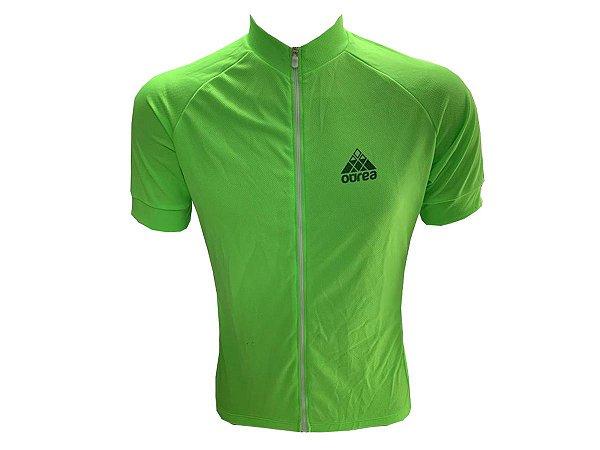 Camisa Ciclismo Mountain Bike Ourea Verde Zíper Full