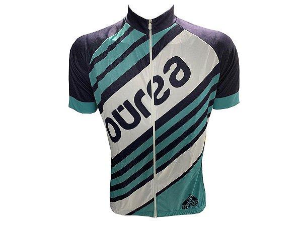 Camisa Ciclismo Mountain Bike Ourea Listras Zíper Full