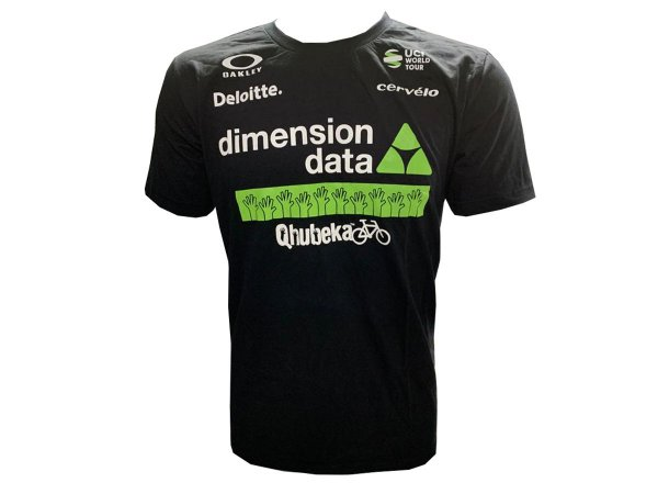 Camisa CASUAL Dimension Data Preta Manga curta