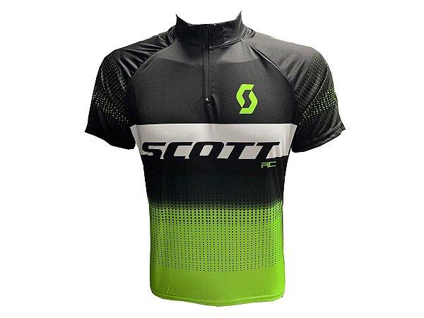 Camisa Ciclismo Mountain Bike Feminina Scott Verde