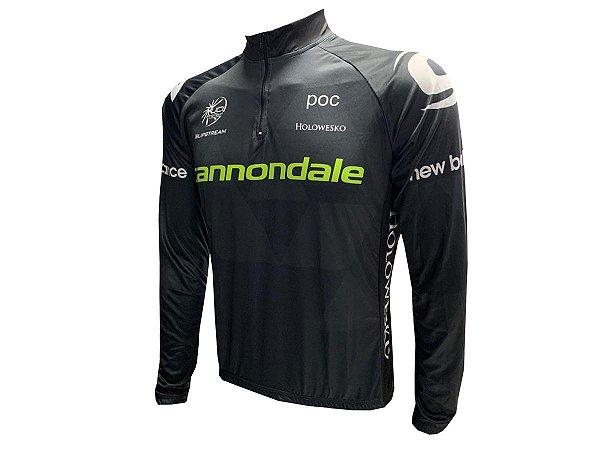 Camisa Ciclismo Cannondale Preto Manga Longa