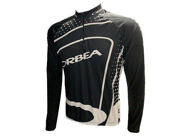 Camisa Ciclismo MTB Orbea Preta Manga Longa