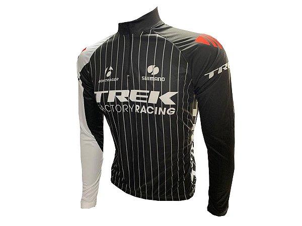 Camisa Ciclismo MTB Trek Factory Preta Manga Longa