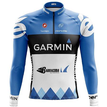 Camisa Ciclismo Mountain Bike Garmin Cervélo Manga Longa