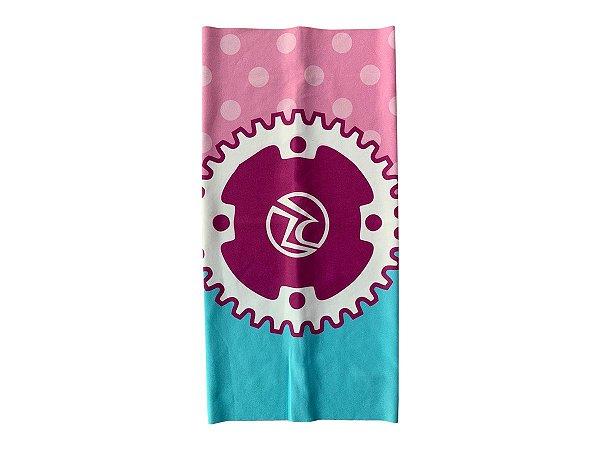 Bandana Ciclismo Unissex Risco Zero Cora Rosa/Azul