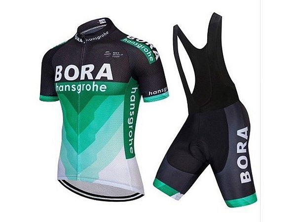 Conjunto Ciclismo Bretelle e Camisa Bora Hansgrohe