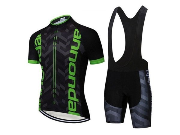 Conjunto Ciclismo Bretelle e Camisa Cannondale Preto/Verde