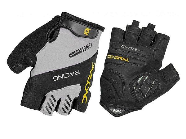Luva Ciclismo Dvorak Racing Antiderrapante Dedo Curto Yellow