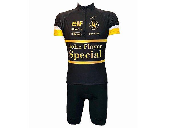 Conjunto Ciclismo Bermuda com Bolso e Camisa Senna Scpecial