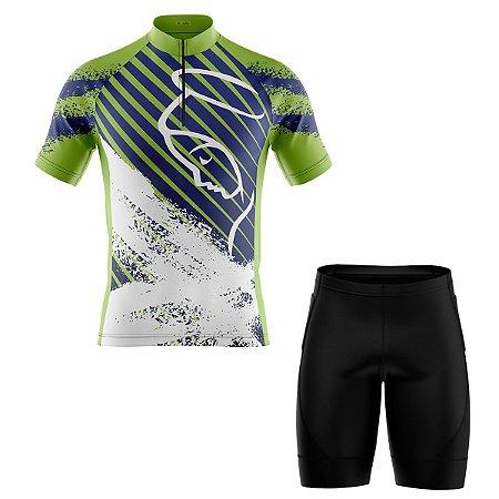 Conjunto Masculino Ciclismo Bermuda e Camisa Nossa Senhora
