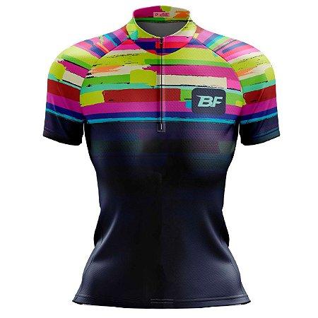 Camisa Ciclismo Mountain Bike Feminina Quadriculada