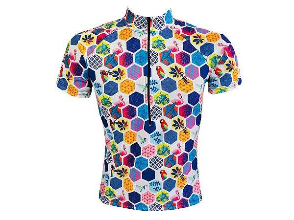 Camisa Ciclismo Mountain Bike Feminina Araras