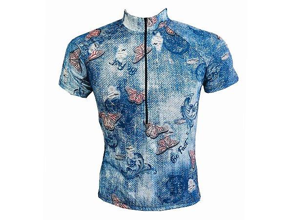 Camisa Ciclismo Mountain Bike Feminina Jeans