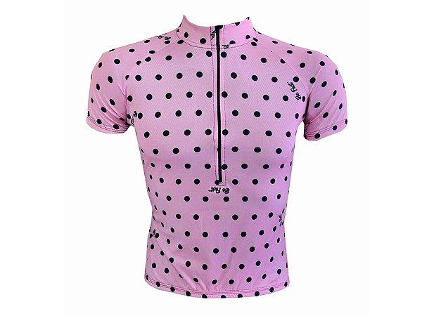 Camisa Ciclismo Mountain Bike Feminina Bolinhas