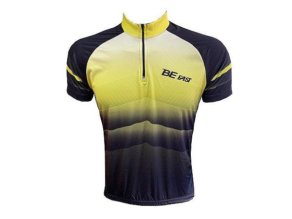 Camisa Ciclismo Mountain Bike Degrade Amarelo/Preto MO 220