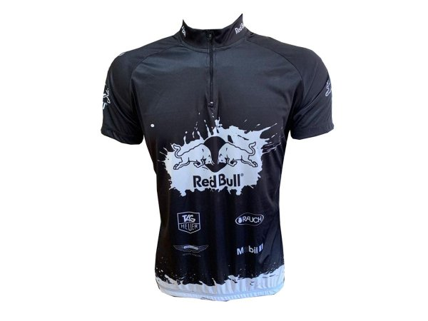 Camisa Ciclismo Mountain Bike Red Bull Preto/ Branco