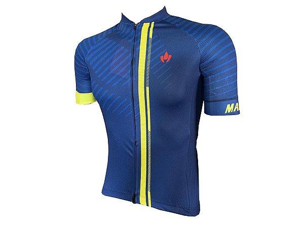 Camisa Ciclismo Mountain Bike Marelli Europa Azul