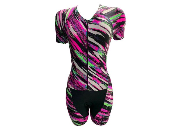 Macaquinho Ciclismo Feminino Zebra Colors