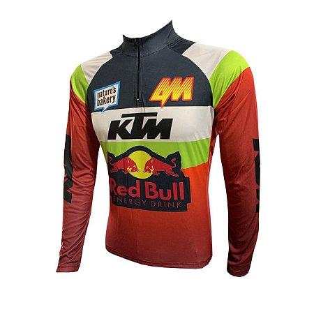 Camisa Ciclismo Mountain Bike KTM Manga Longa