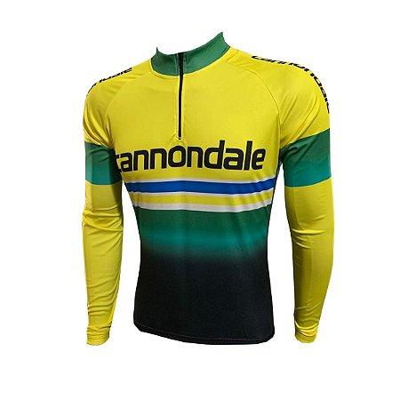 Camisa Ciclismo Mountain Bike Cannondale Manga Longa