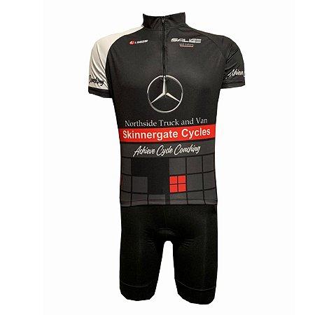 Conjunto Masculino Ciclismo Bermuda e Camisa Mercedes Benz