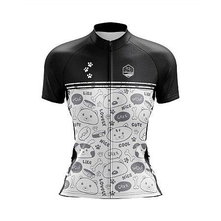 Camisa Ciclismo Feminina Pro Tour Respeite Dog Fan