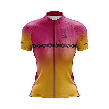Camisa Ciclismo Feminina Pro Tour Wlash