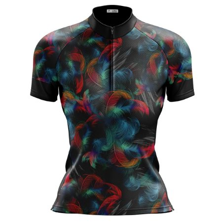 Camisa Ciclismo Mountain Bike Feminina Floral