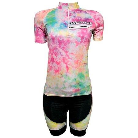 Conjunto Bermuda e Camisa Ciclismo Feminino Pro Tour Tai Day