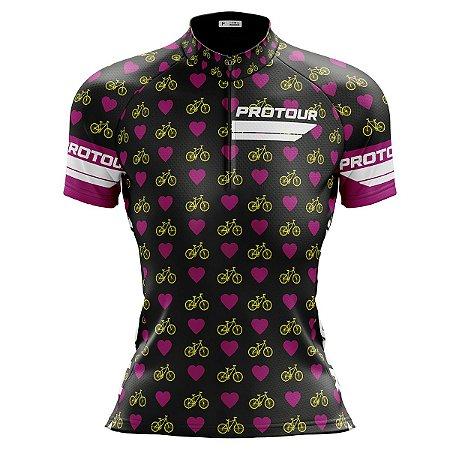 Camisa Ciclismo Mountain Bike Feminina Bicicletinhas