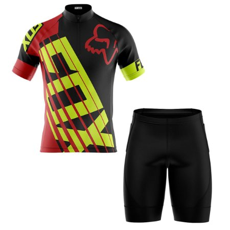 Conjunto Masculino Ciclismo Bermuda e Camisa Fox Racing