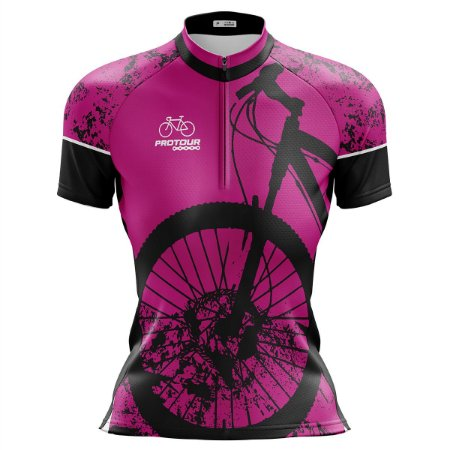 Camisa Ciclismo Mountain Bike Feminina Pro Tour Bike Rosa