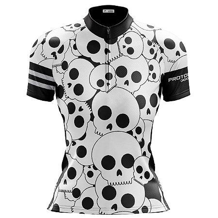Camisa Ciclismo Mountain Bike Feminina Caveiras MOD 181