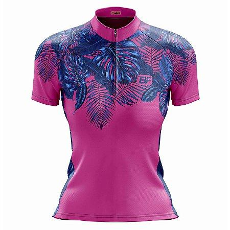 Camisa Ciclismo Mountain Bike Feminina Folhas