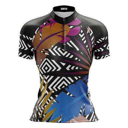 Camisa Ciclismo Mountain Bike Feminina Tropical