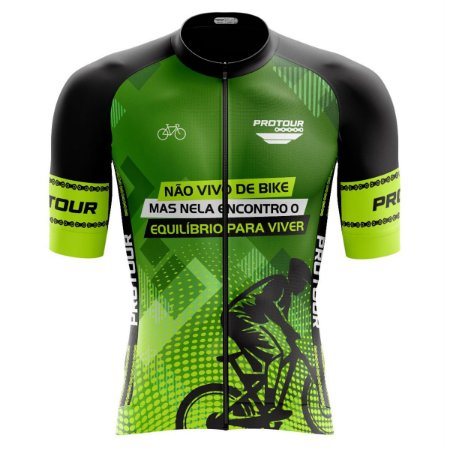 Camisa Ciclismo Pro Tour Premium Ciclista Zíper Abertura Total