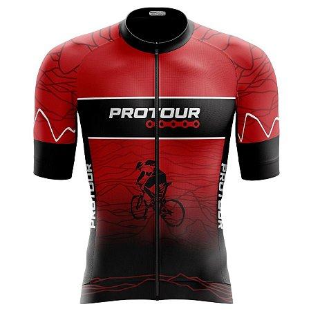 Camisa Ciclismo Pro Tour Premium Biker Zíper Abertuta Total