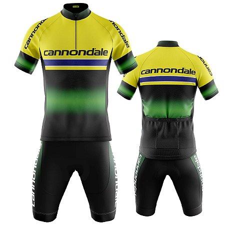 Conjunto Ciclismo Mountain Bike Bermuda e Camisa Cannondale