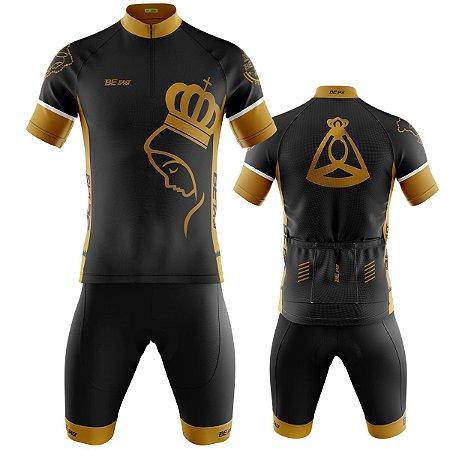 Conjunto Masculino Ciclismo Mountain Bike Bermuda e Camisa Nossa Senhora Aparecida