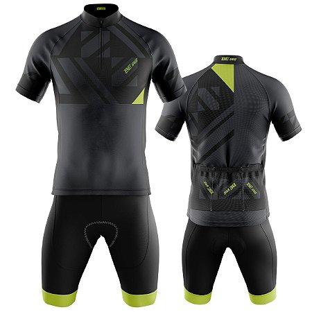 Conjunto Ciclismo Mountain Bike Bermurda e Camisa Be Fast Cinza