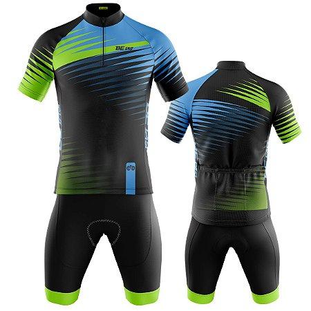 Conjunto Ciclismo Mountain Bike Bermuda e Camisa Tigre